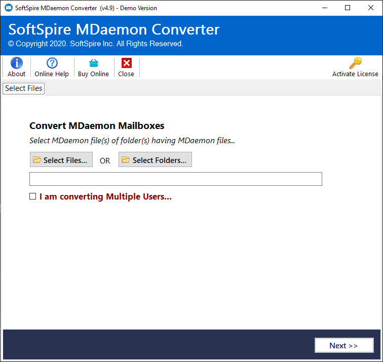 Convert Emails from MDaemon Mailbox2PST screenshot