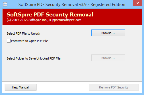 Click to view Remove Adobe PDF Password Protection 4.1 screenshot