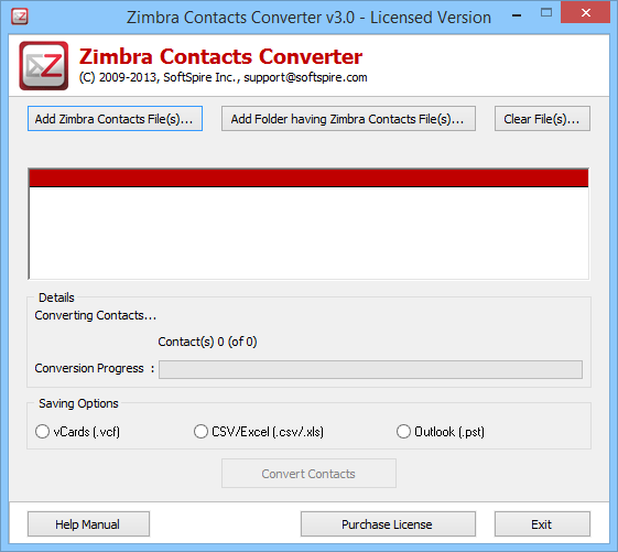 Windows 7 Export Zimbra Contacts to Outlook 3.2 full
